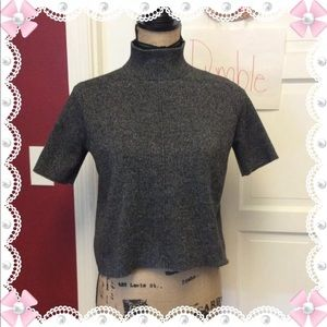 Pretty zara Cropped mock neck sweater